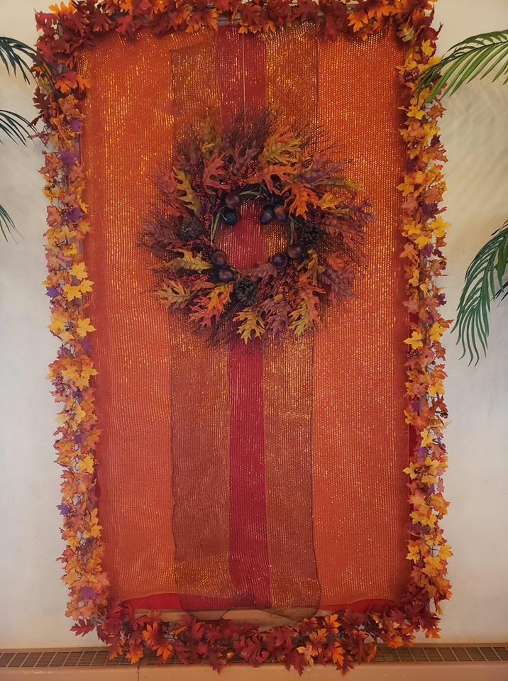 Autumn Wreath on banner